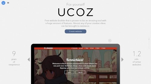 Nomination 100 free website builder and hosting to show you what you can get without spending a cent lets take ucoz website builder namely its free version solutioingenieria Images