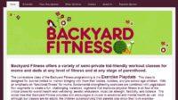 Backyard Fitness - Yola Website Examples