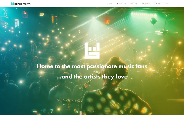Bandsintown - Squarespace Website Examples