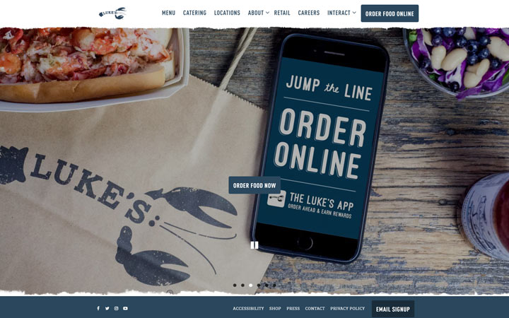 Lukes Lobster - Squarespace Website Examples
