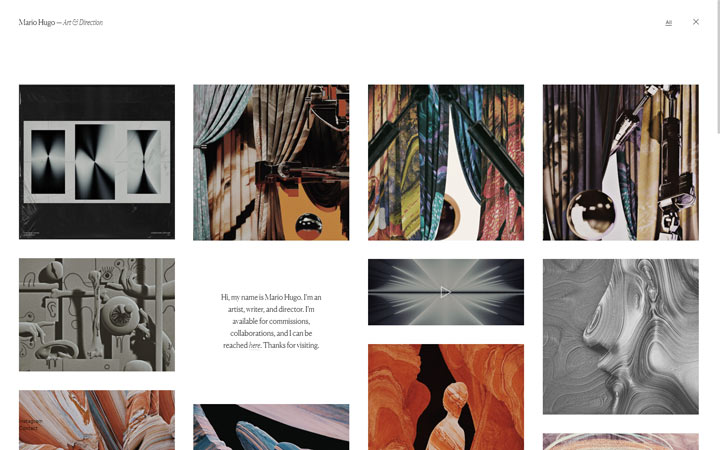 Mario Hugo - Squarespace Website Examples