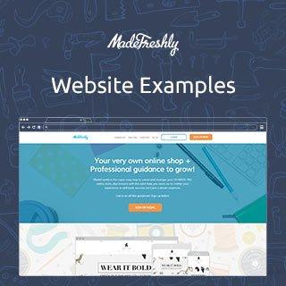 MadeFreshly.com Website Examples