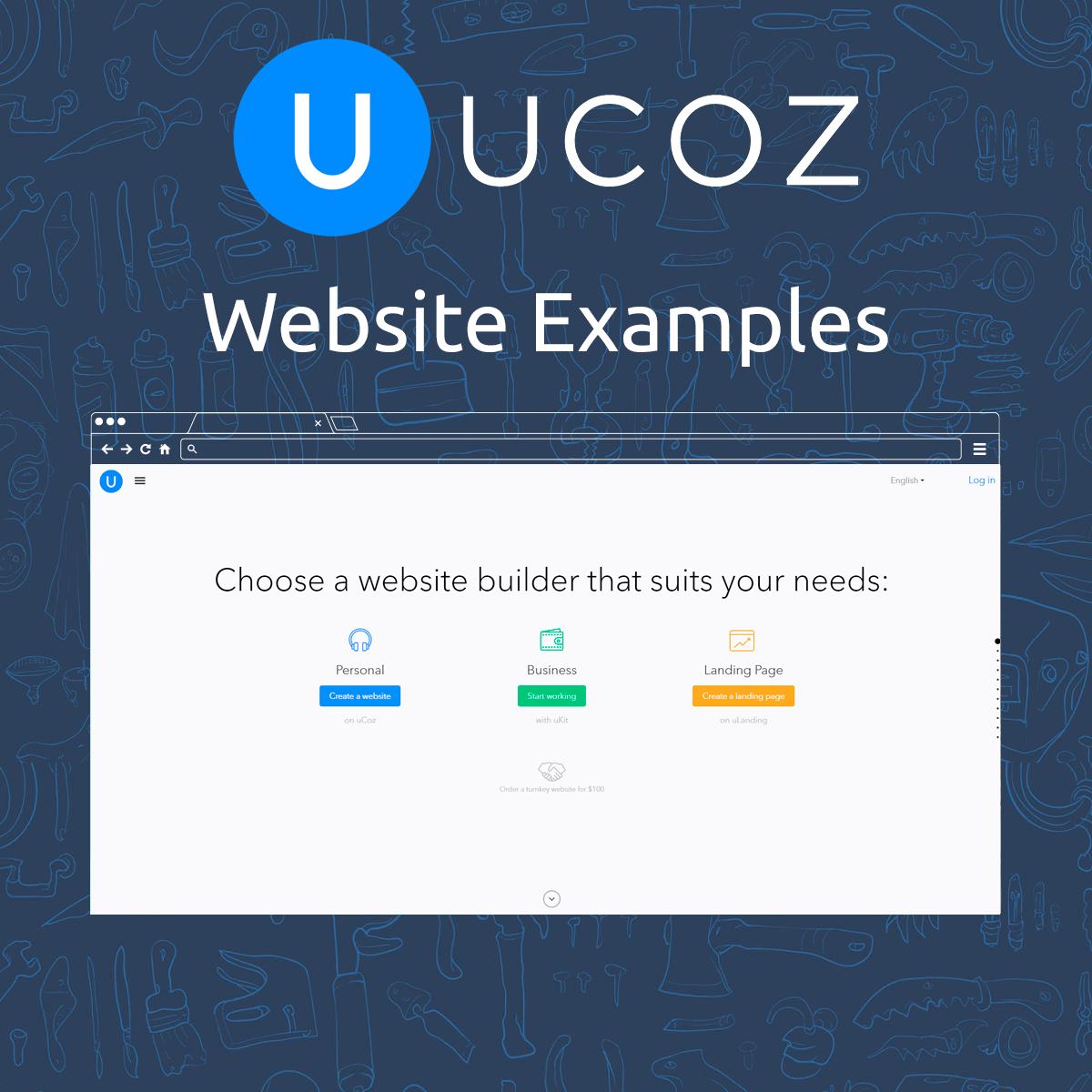 uCoz Website Examples