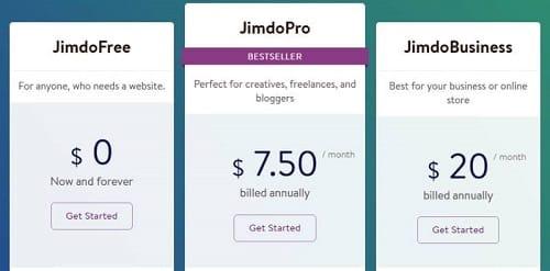Jimdo-Pricing