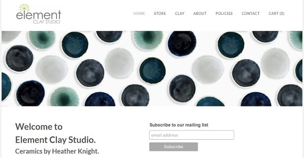 Element Clay Studio - Weebly Portfolio Example