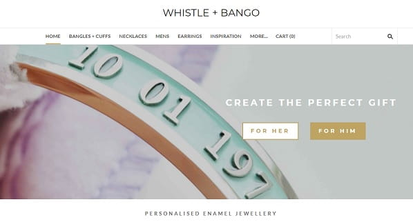 Whistle Bango - Weebly Store Example