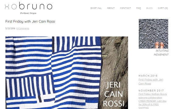 Xobruno - Weebly Blog Example