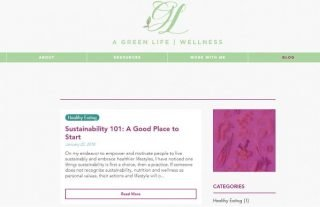 A Green Life Wellness - Wix Blog Example