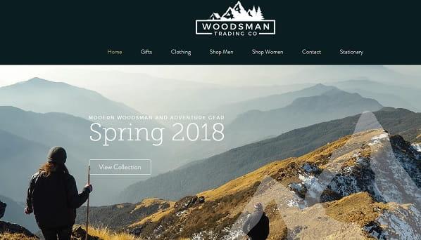 Woodsman Trading Co - Wix eCommerce Example