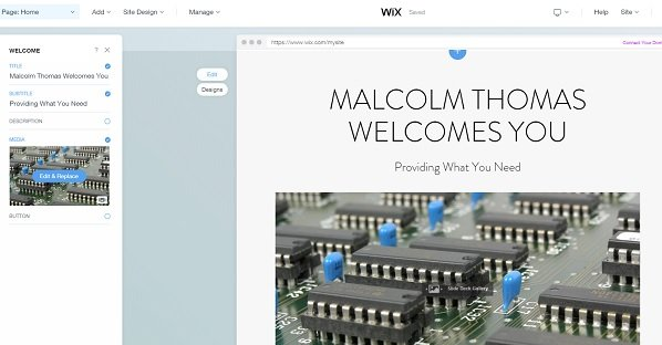 Wix ADI Editor
