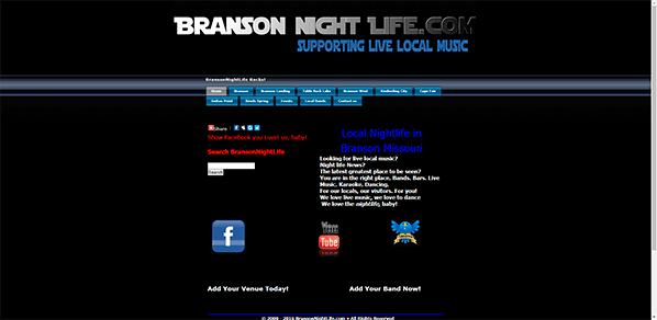 Branson NightLife- Yola Community Website