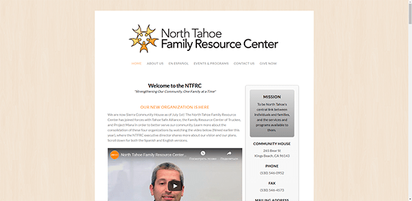 North Tahoe Family Resource Center - Yola Community Website