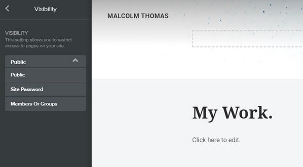 Weebly page editor